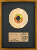 "Music Memorabilia:Awards, Beatles ""A Hard Day's Night"" RIAA Gold Record Sales Award (Capitol5222, 1964). ..."
