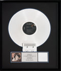 Music Memorabilia:Awards, Elvis Presley Welcome to My World RIAA Hologram PlatinumRecord Sales Award (RCA APL1-2274, 1977). ...