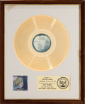 Music Memorabilia:Awards, Beatles - John Lennon Plastic Ono Band RIAA White Mat GoldRecord Sales Award (Apple SW 3372, 1970). ...