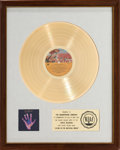 Music Memorabilia:Awards, Beatles - George Harrison Living in the Material World RIAAWhite Mat Gold Record Sales Award (Apple SMAS-3410, 19...