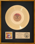 Music Memorabilia:Awards, Jimi Hendrix Experience Are You Experienced? RIAA GoldRecord Sales Award (Reprise RS 6261, 1967). ...