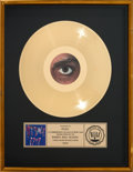 Music Memorabilia:Awards, Prince and the Revolution 1999 RIAA Gold Record Sales Award (Warner Bros. 1-23720, 1982)....