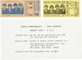 Music Memorabilia:Tickets, Beatles New York Shea Stadium and Washington D.C. Stadium ConcertTicket Stubs (1966) with 1965 Shea Ticket Order Sheet. ...
