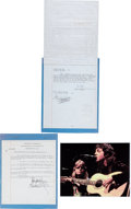 Music Memorabilia:Autographs and Signed Items, Paul and Linda McCartney Signed Document Changing the Name ofMcCartney Music, Inc. to MPL Communications, Inc. (New York, Oct...