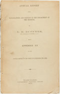 Books:Americana & American History, E. H. Ruffner. Annual Report Upon Explorations and Surveys inthe Department of the Missouri... being Appendix SS of the...