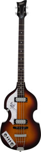 Musical Instruments:Bass Guitars, Paul McCartney Signed 2000's Hofner Left-Handed B-Bass Hi-Series Sunburst Electric Bass Guitar....