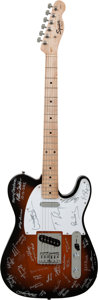 Musical Instruments:Electric Guitars, Paul McCartney and Others Signed Fender Squire Affinity SeriesTelecaster Sunburst Electric Guitar....
