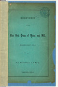 Books:Fiction, A. J. Mitchell. Report on the Blue Bird Group of Mines and Mill,Boulder County, Colo. Denver, Colo.: [N.p., circa 1...