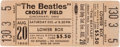 Music Memorabilia:Tickets, Beatles Cincinnati Crosley Field Unused Concert Ticket (1966)....