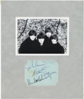 Music Memorabilia:Autographs and Signed Items, Beatles - Set of All Four Signatures (UK, 1964)....