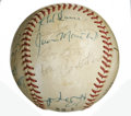 Autographs:Baseballs, 1971 San Francisco Giants Team Signed Baseball. Riding astar-studded roster in the 1971 season, the San Francisco Giantsb...