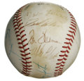 Autographs:Baseballs, 1980 Cincinnati Reds Team Signed Baseball. The Cincinnati Reds hadestablished a fine pedigree after experiencing a very su...