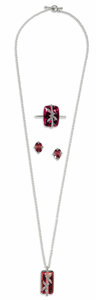 Estate Jewelry:Other , Pink Tourmaline, Diamond, Platinum Jewelry Suite, Cathy Waterman. The bamboo themed jewelry suite includes: a pair of earr...