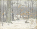 Texas:Early Texas Art - Impressionists, GEORGE HERBERT MACCRUM (b. 1888). Winter Forest. Oil onboard. 8.25in. x 10.25in.. Estate stamp verso. Provenance:. Es...