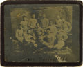 Basketball Collectibles:Others, 1891 Springfield Football Team Cabinet Photograph with Naismith. Nineteenth century football cabinet is raised to the peak ...