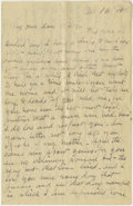 Basketball Collectibles:Others, 1918 James Naismith Handwritten Signed Letter.. Date: November 13,1918.. Location: France.. Length in pages: Nine.. ...