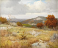 Texas:Early Texas Art - Impressionists, PORFIRIO SALINAS (1910-1973). Untitled Hill Country Autumn. Oil oncanvas. 20in. x 24in.. Signed lower left. An absolutely...