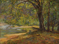 Texas:Early Texas Art - Regionalists, OLIN TRAVIS (1888-1975). Along War Eagle River, 1920s to1930s. Oil on artistboard. 12in. x 16in.. Signed lower left. Tu...