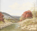 Texas:Early Texas Art - Impressionists, PALMER CHRISMAN (1913-1984). Untitled Autumn Stream in Texas. Oilon canvas. 20in. x 24in.. Signed lower right. The influe...