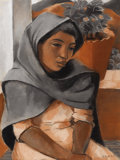 Texas:Early Texas Art - Regionalists, EDMUND KINZINGER (1888-1963). Taxco Woman, 1937. Pastel.24in. x 18in.. Signed and dated lower right. Edmund Kinzinger...