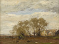 Texas:Early Texas Art - Impressionists, HENRY WARD RANGER (1858-1916). The Willows. Oil on board.12in. x 16in.. Artist stamp lower left. One of the prominent...