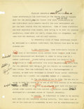Basketball Collectibles:Others, 1930's James Naismith Typed Manuscript with Handwritten Notes re:Physical Education. Three short manuscripts represent ear...