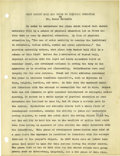 Basketball Collectibles:Others, 1930's James Naismith Typed Manuscript with Handwritten Notes re: Sportsmanship. Four short manuscripts represent early tex...