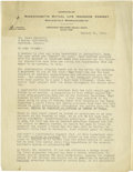 Basketball Collectibles:Others, 1920's-30's Letters Written to James Naismith Archive. Over twenty typed and signed letters were mailed to Dr. Naismith by ...