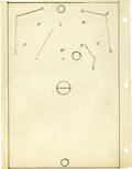 Basketball Collectibles:Others, 1930's James Naismith Handwritten Manuscript re: Rules Changes. Six handwritten pages regarding several rules changes were ...