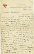 """Basketball Collectibles:Others, 1918 James Naismith Handwritten Signed Letter.. Date: May 26,1918.. Location: France.. Length in pages: Four, on """"YMC..."""