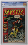 "Golden Age (1938-1955):Horror, Mystic #18 Davis Crippen (""D"" Copy) pedigree (Atlas, 1953) CGC VF8.0 Off-white to white pages. Bill Everett cover. Jack Abe..."