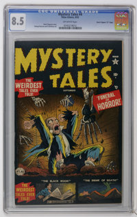 """Mystery Tales #4 Davis Crippen (""""D"""" Copy) pedigree (Atlas, 1952) CGC VF+ 8.5 Off-white pages. George Roussos a..."""