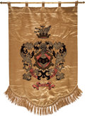 Movie/TV Memorabilia:Memorabilia, A Mae West 'Coat of Arms' Silk Banner, Circa 1940s....
