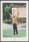 Miscellaneous Collectibles:General, Davis Love III Signed Lithograph. ...