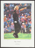 Golf Collectibles:Autographs, Greg Norman Signed Lithograph. ...
