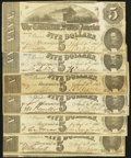 Confederate Notes:1863 Issues, T60 $5 1863 PF-4 Cr. 450. Six Examples. ... (Total: 6 notes)