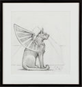 Music Memorabilia:Original Art, Jerry Garcia - Original Concept Sketch By Stanley Mouse (Born 1940)For The Cover Of Cats Under The Stars LP (Aris...