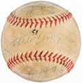 Baseball Collectibles:Tickets, 1951 Cleveland Indians Team Signed Baseball (31 Signatures)....