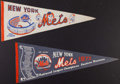 Baseball Collectibles:Others, 1970's New York Mets Pennants Lot of 2....