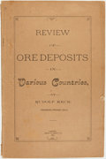 Books:Natural History Books & Prints, Rudolf Keck. Review of Oredeposits in Various Countries.Denver: Chain & Hardy Co., 1892. ...