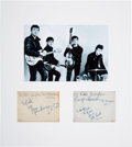 Music Memorabilia:Autographs and Signed Items, Beatles Early Signatures (with Pete Best) on Two-Sided Album Page(Circa 1962), in Matted Display. ...
