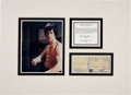 Movie/TV Memorabilia:Autographs and Signed Items, A Bruce Lee Signed Credit Card Receipt, 1969....