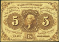 Fractional Currency:First Issue, Fr. 1230 5¢ First Issue Extremely Fine-About New.. ...