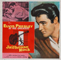Movie/TV Memorabilia:Posters, Elvis Presley Jailhouse Rock Six-Sheet Movie Poster (MGM,1957)....