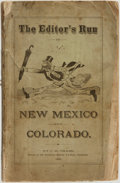 "Books:Americana & American History, C. M. Chase. The Editor's Run in New Mexico and Colorado...Lyndon, Vermont: [Printed at the ""Argus and Patriot"" Ste..."