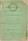 Books:Americana & American History, Max Greene. The Kansas Region. New York: 1856....