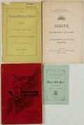 Books:Americana & American History, [Colorado]. Group of Four Booklets Related to Denver. Variouspublishers and dates. ... (Total: 4 Items)