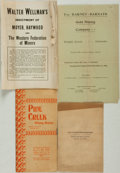 Books:Americana & American History, [Colorado]. Group of Four Pamphlets about Miners and Mining.Various publishers and dates. ... (Total: 4 Items)