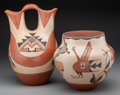 American Indian Art:Pottery, Two Southwest Polychrome Vessels. Lupe M. Romero and ElizabethMedina ... (Total: 2 Items)