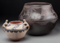 American Indian Art:Pottery, Two Southwest Pottery Jars. Seferina Ortiz... (Total: 2 Items)